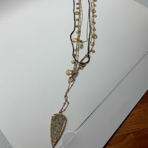 Express gold and black necklace